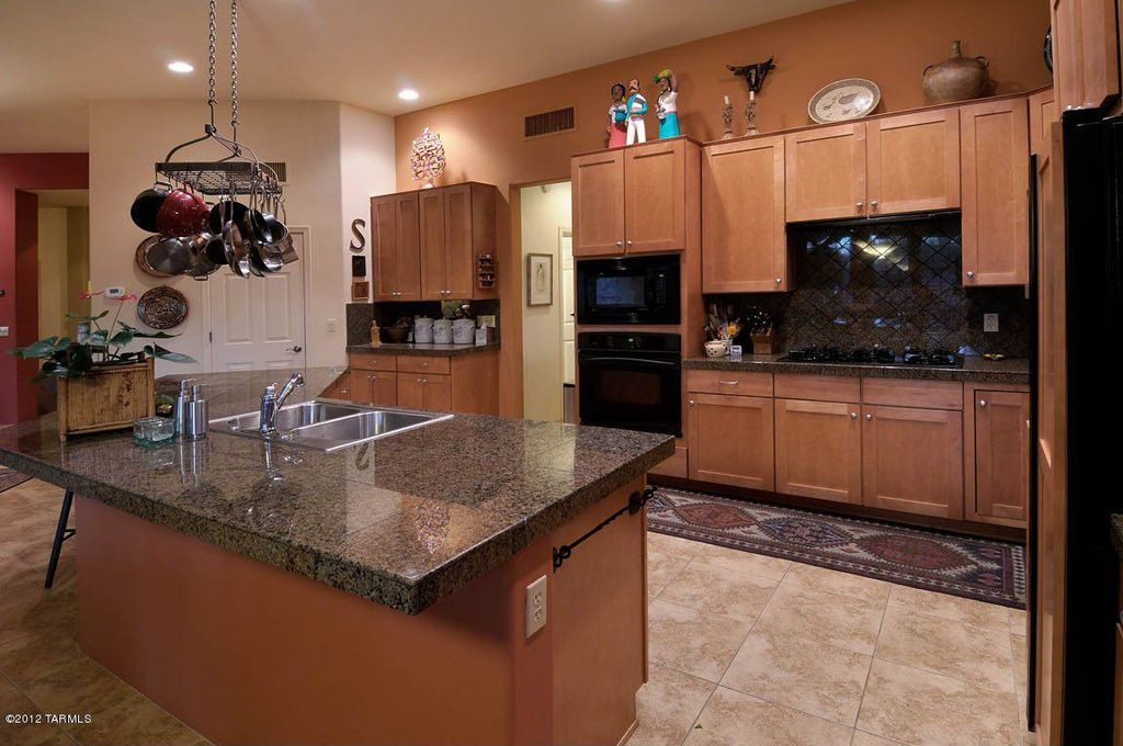 Eclectic Kitchen With Plainview Cabinetry, Glass Tile, Dakota Mahogany  Granite Countertop, Quartz Counters