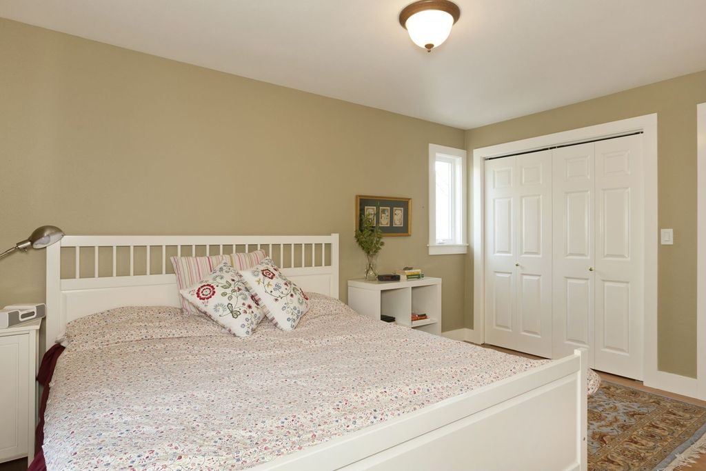 cottage master bedroom with high ceiling hemnes bed frame white stain leroy - Bedroom Floor Carpet