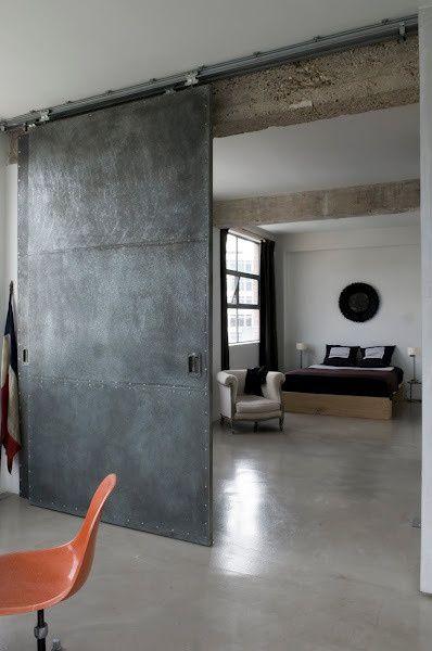 4 tags contemporary master bedroom with jofran grace tufted chair copley platform bed steampunk scrap metal - Barn Door Design Ideas