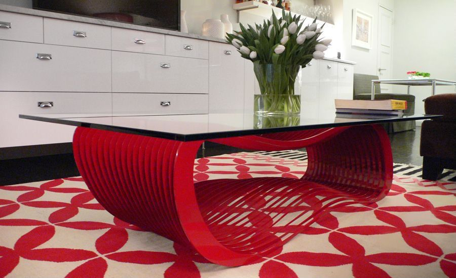 1 Tag Contemporary Living Room With All Modern Loop Coffee Table By Chris  Kabatsi For Arktura