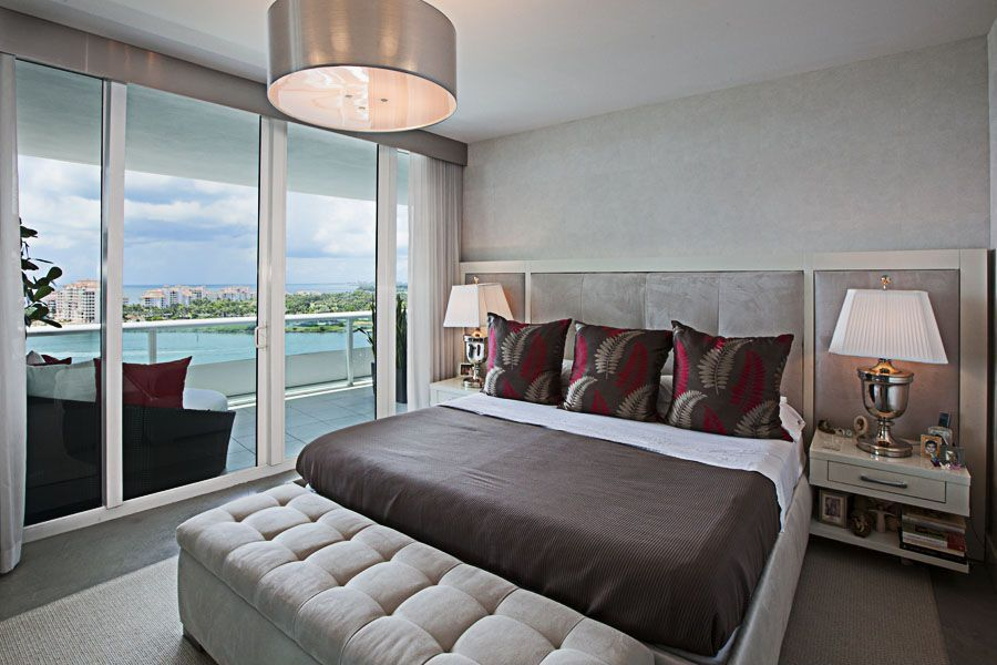 Contemporary Master Bedroom With Water View By Karla