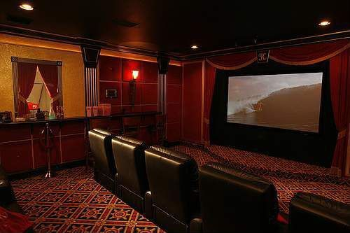 art deco home theater by brad andersohn zillow digs zillow. Black Bedroom Furniture Sets. Home Design Ideas