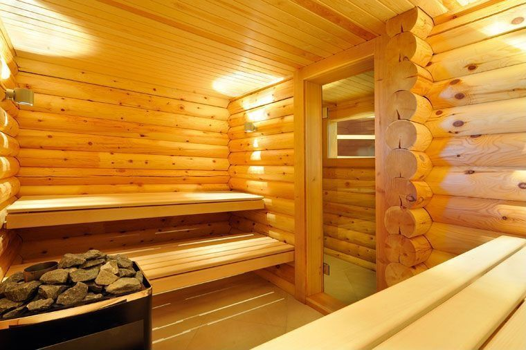 Dry sauna modern villa interior on behance dry saunasauna for Master bathroom with sauna