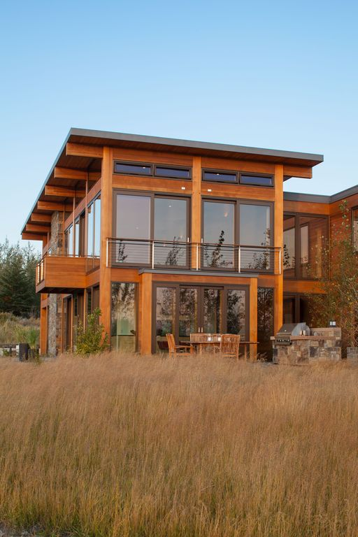 Contemporary exterior of home by tetonheritagebuilder for Home design zillow