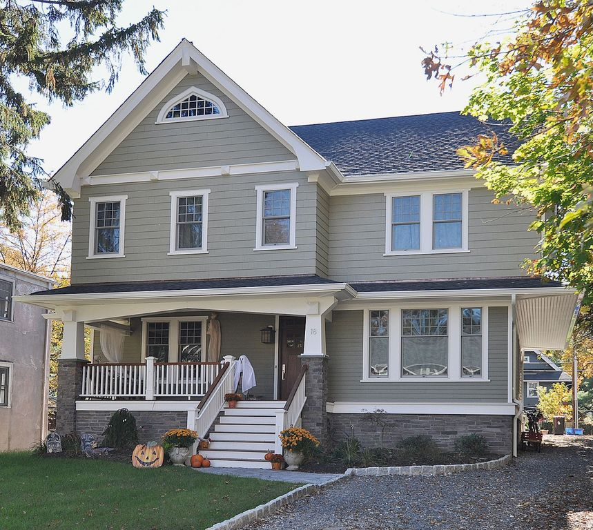 Zillow Real Estate Nj: Craftsman Exterior Of Home With Pathway By Oasis