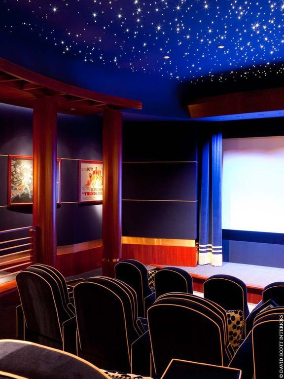 Contemporary Home Theater With Columns By David Scott Zillow Digs Zillow
