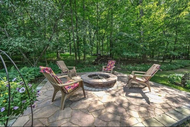 Rustic Patio with CR Plastic Products Generations Upright Adirondack Chair  exterior  stone floors  FirepitRustic Patio with Firepit   Fire pit in Elm Grove  WI   Zillow  . Exterior Stone Floor Products. Home Design Ideas