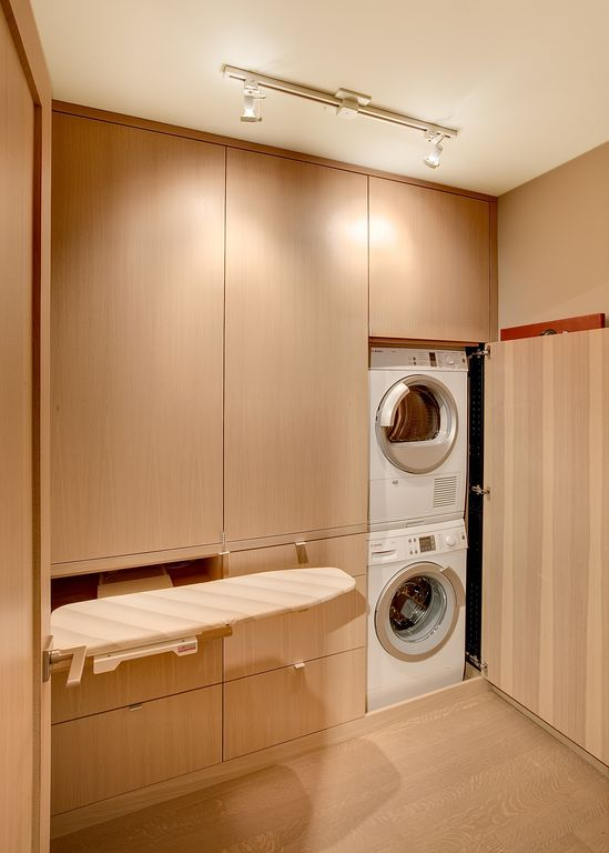 modern laundry room flooring | Contemporary Laundry Room with Laminate floors by Ryan ...