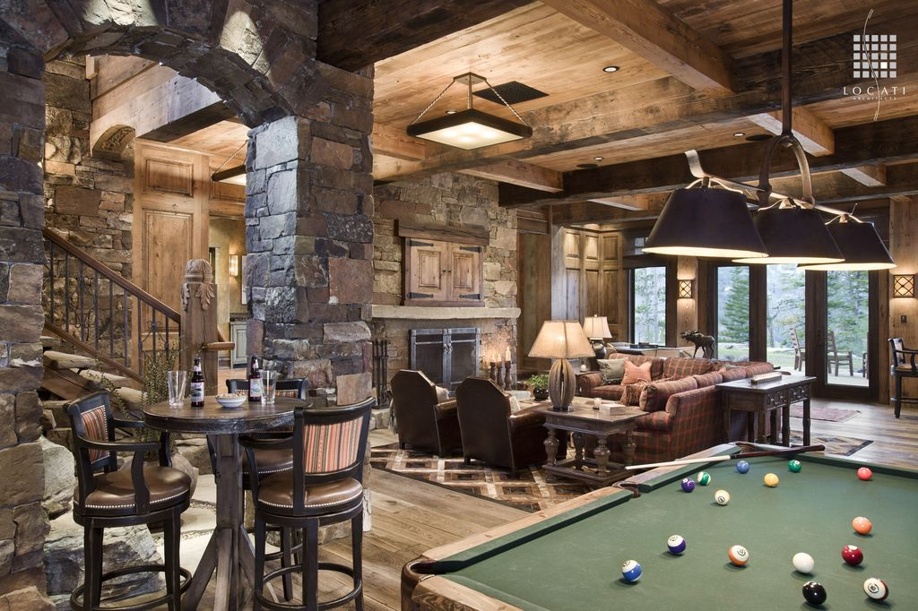 Country Game Room With Wood Panel Ceiling By Locati Architects Zillow Digs Zillow