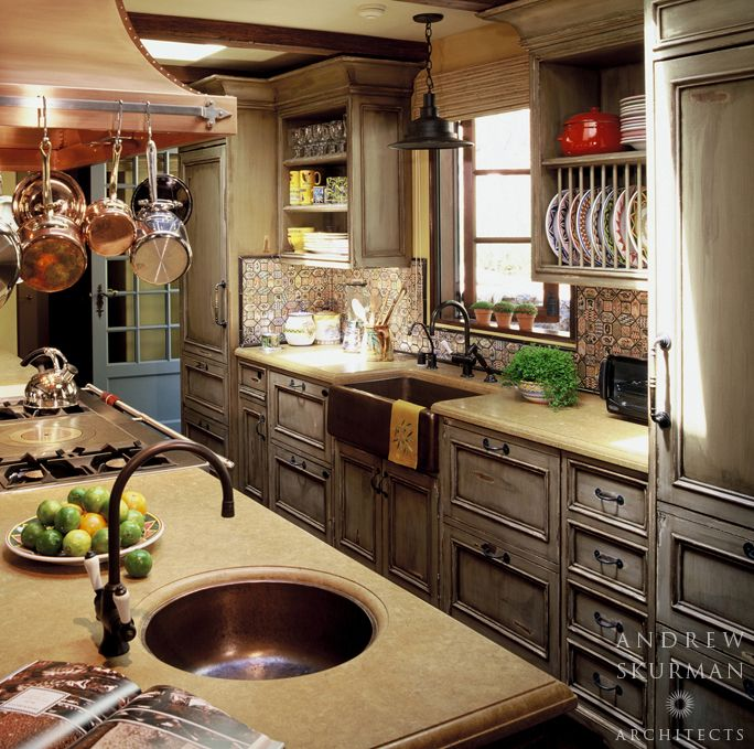 Country Kitchen With Farmhouse Sink By Andrew Skurman