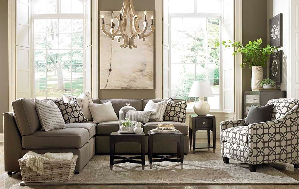 Transitional Living Room Furniture : Living Room with High ceiling & Hardwood floors  Zillow ...