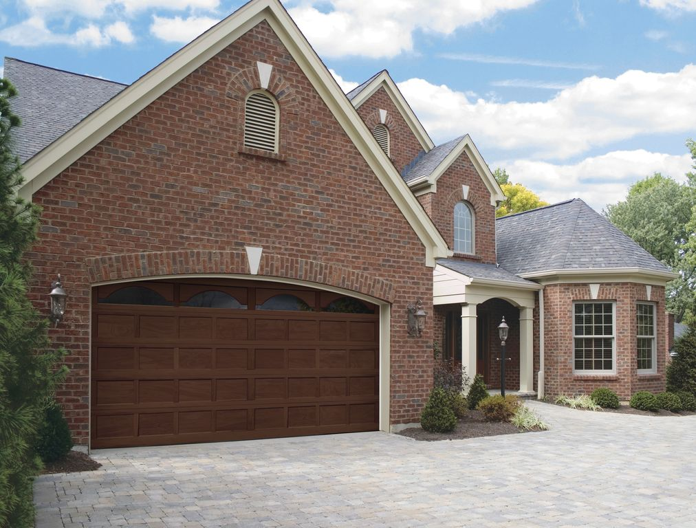 Traditional garage with brick exterior by hollywood for Traditional garage