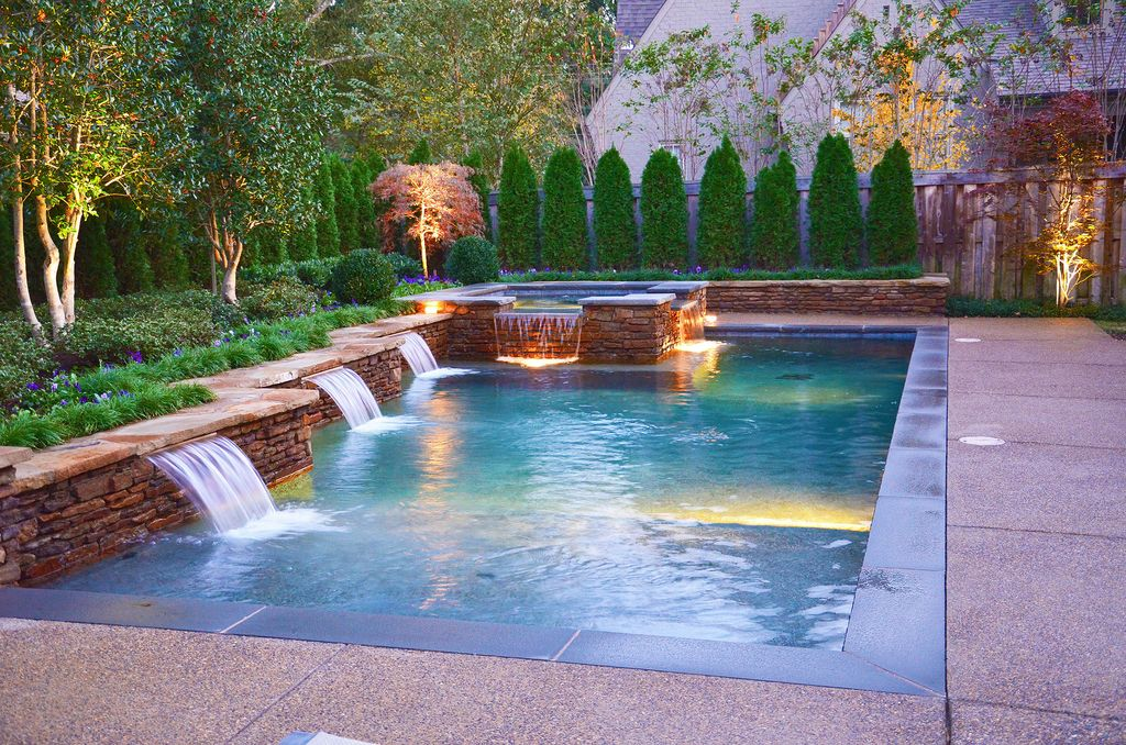 Rectangle Pool With Water Feature pebble technology boards - zillow digs | zillow