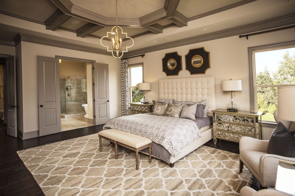 2 tags transitional guest bedroom with pendant light hardwood floors exposed beam high ceiling - Guest Bedroom Design Ideas