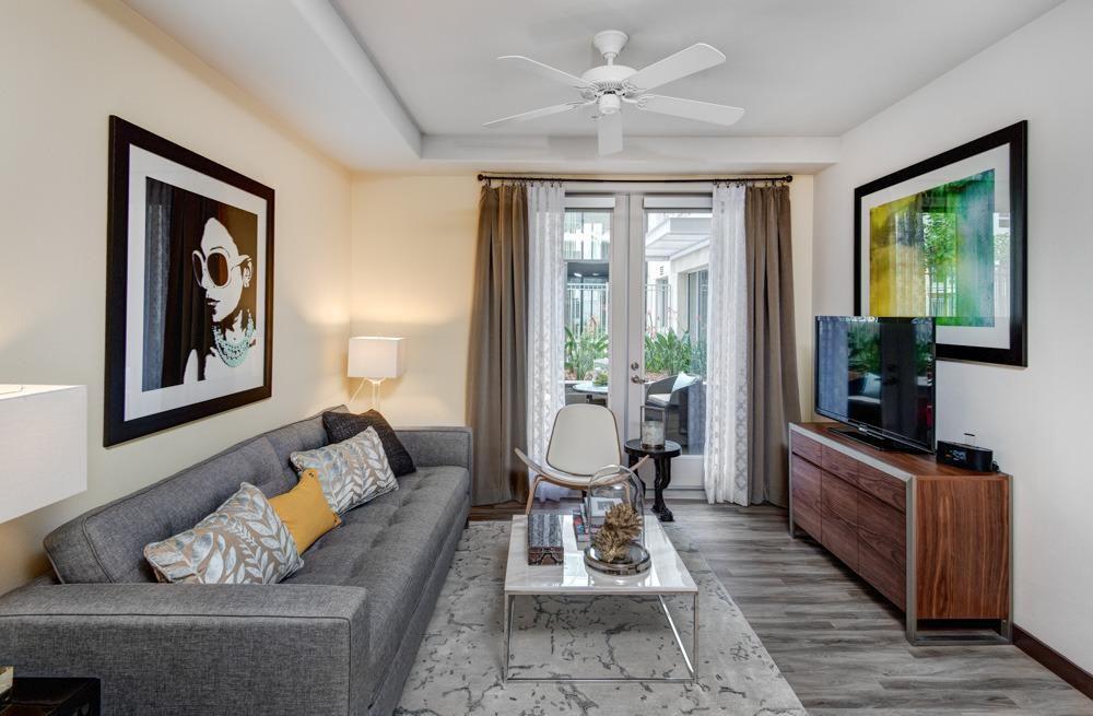 Modern Living Room With Eliot Sofa 7 1 2 Engineered White Oak