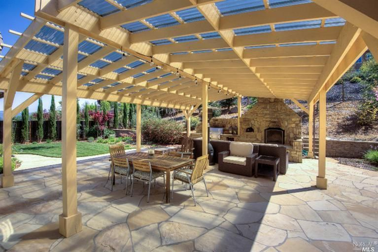 Traditional Patio With Exterior Stone Floors, Pathway, Fence, Wrap Around  Porch, Outdoor