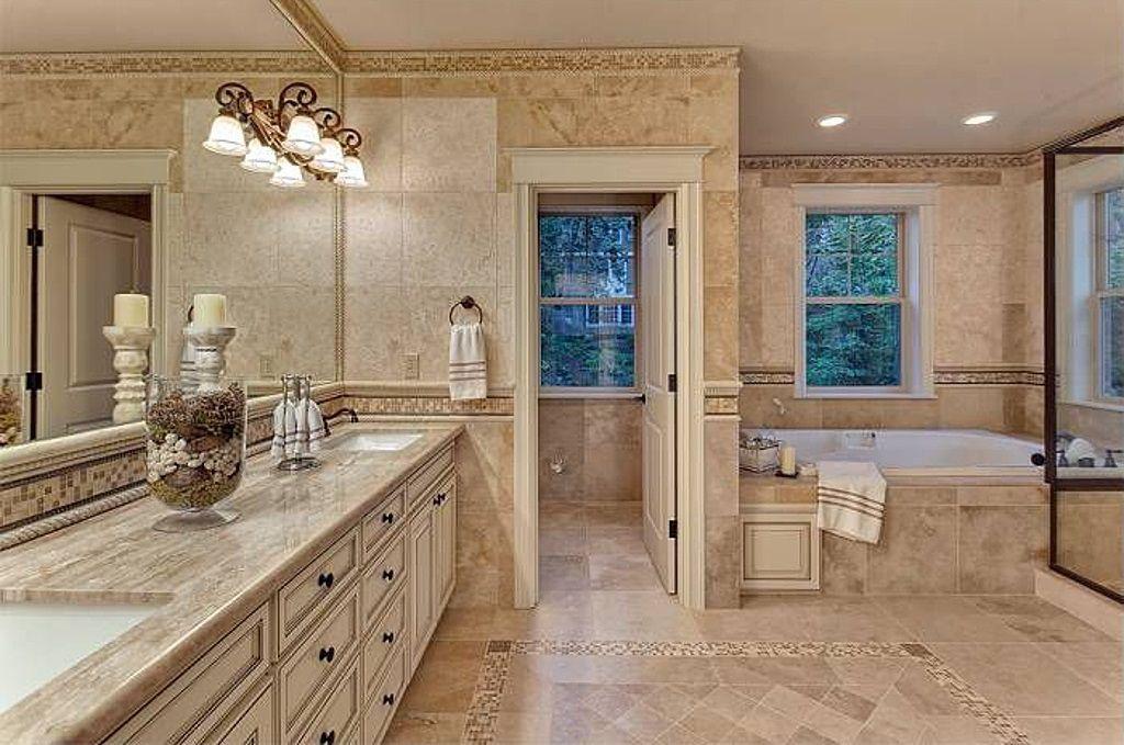 Rustic Master Bathroom rustic master bathroom with drop-in bathtubjackie turner