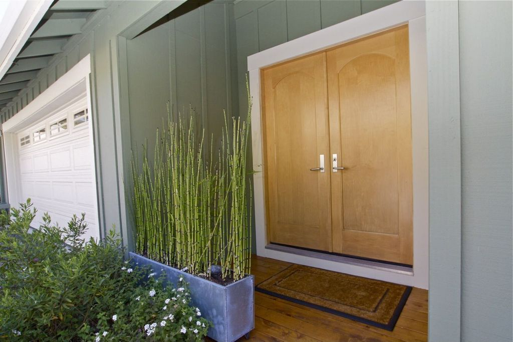 1 tag asian front door with american native bamboo plant - Front Door Design Ideas