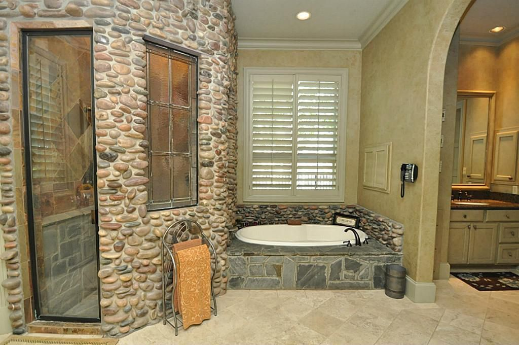 Craftsman Master Bathroom With Drop In Sink Quartz Counters In Sugar Land Tx Zillow Digs