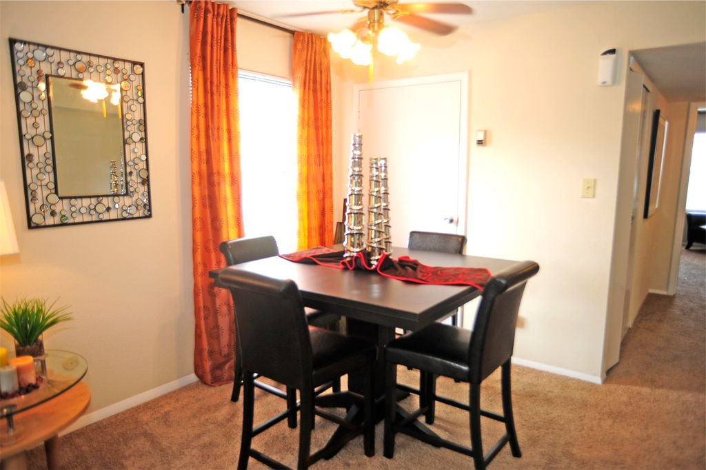 Dining Room with CarpetCeiling fan in Virginia Beach VA