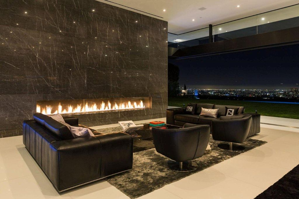 Modern Living Room With Custom Fireplace Design Built In High Ceiling Tulip Sixtysix