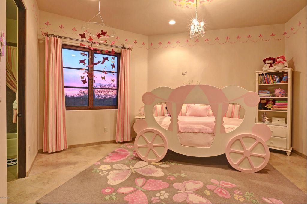 Kids Bedroom Flooring traditional kids bedroom with carpet & limestone tile floors in