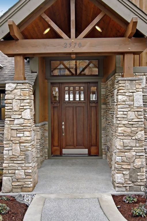 Craftsman Front Door With Glass Panel Door Pathway Zillow Digs Zillow