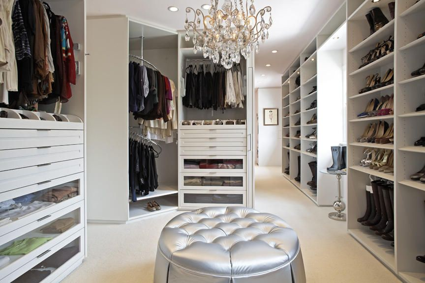 Contemporary Closet With Elegance Crystal Swag Chandelier   6 Light,  Chandelier, Custom Built