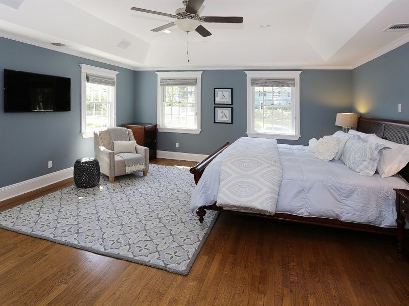 Traditional Master Bedroom With Hardwood Floors Amp High