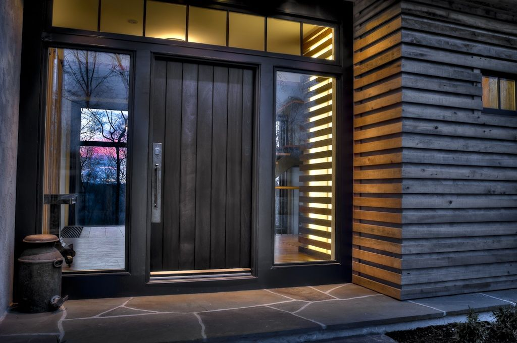 Contemporary front door with pathway by moger mehrhof for Contemporary front doors