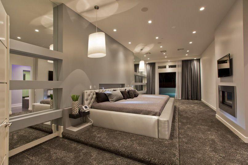 Contemporary Master Bedroom With Tufted Headboard By Tony