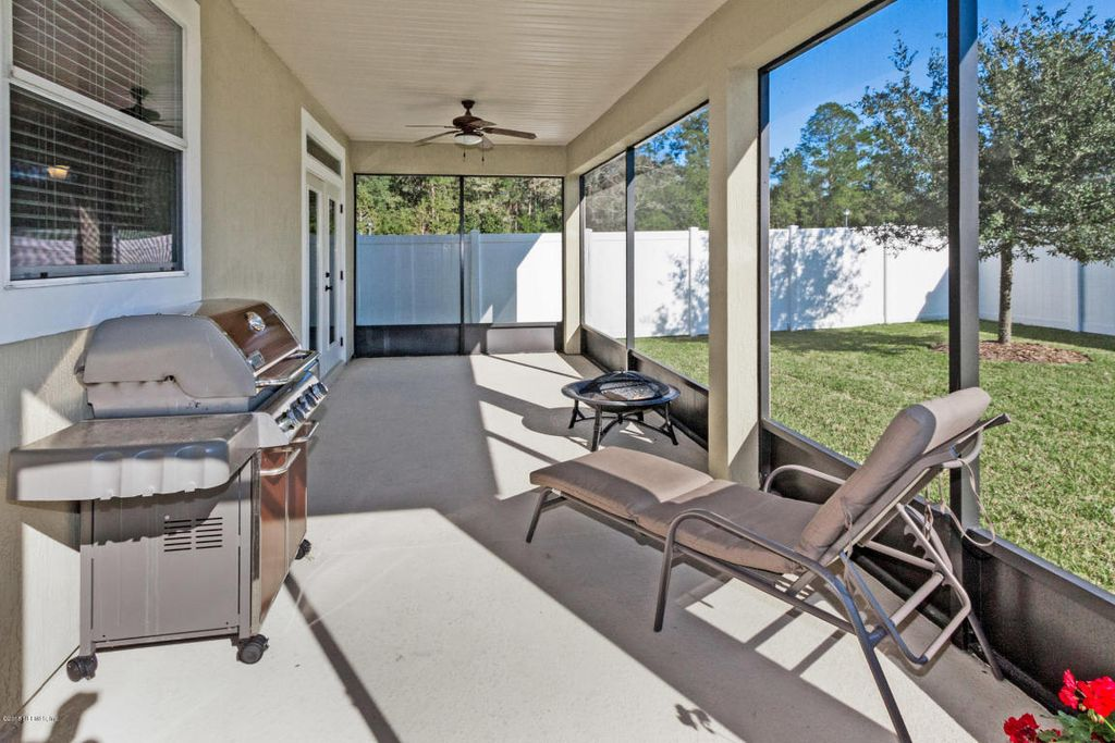 Contemporary porch with fence screened porch in for Modern screened porch