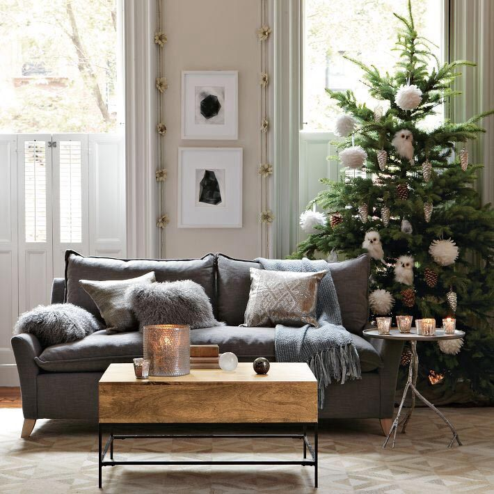 Living Room with Christmas decor & Carpet | Zillow Digs | Zillow