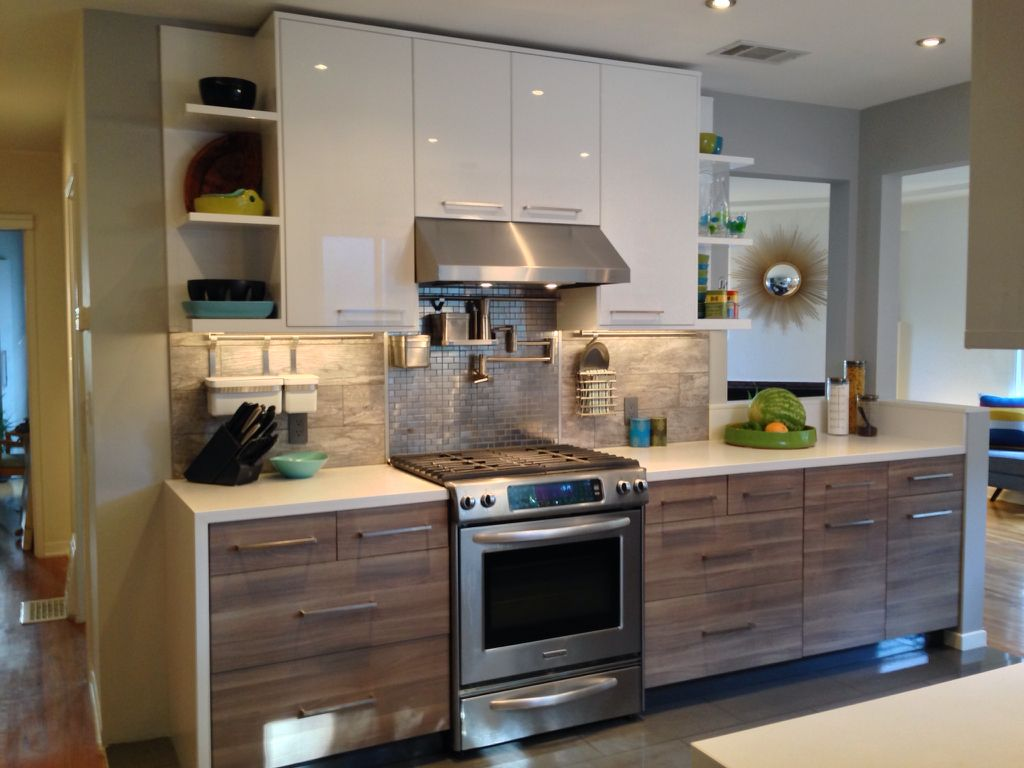 contemporary kitchen with acrilux cabinetry white lacquered cabinets designer white solid surface countertop - Contemporary Kitchen Designer