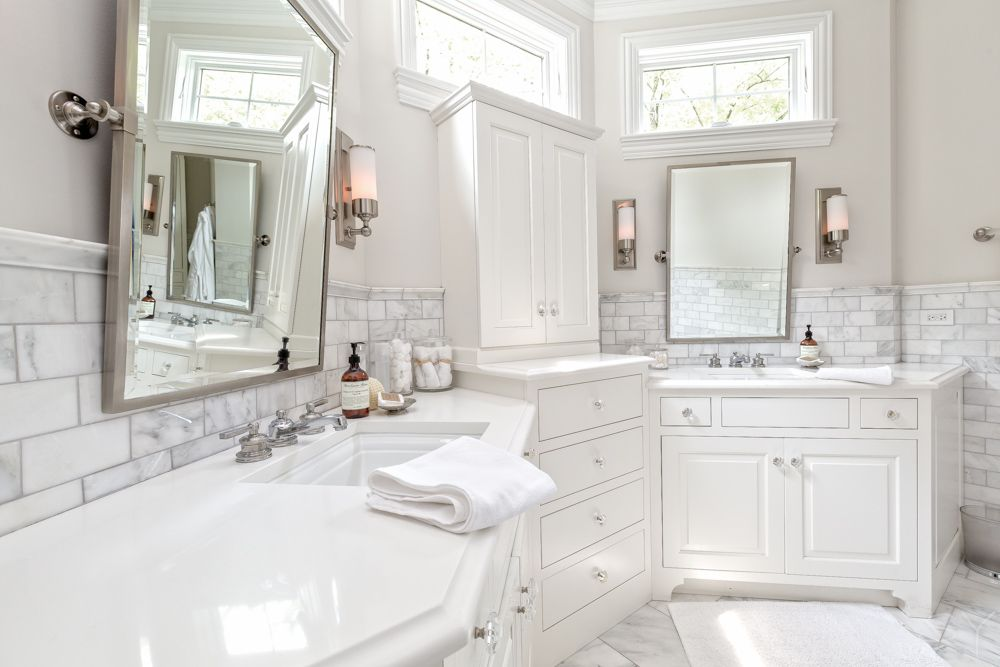 Master Bathroom Wall Sconces : Traditional Master Bathroom with High ceiling & Wall sconce in Hinsdale, IL Zillow Digs Zillow