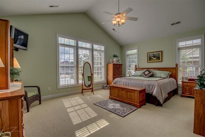Traditional Master Bedroom with Ceiling fan & Carpet in Longs, SC ...