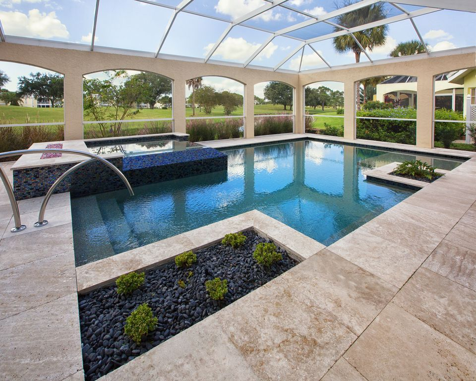 Pool Beds contemporary swimming pool with skylight & raised beds | zillow