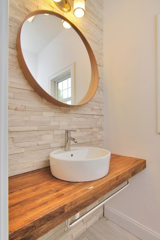 Bathroom Sinks Nj contemporary full bathroom with specialty tile floors & vessel