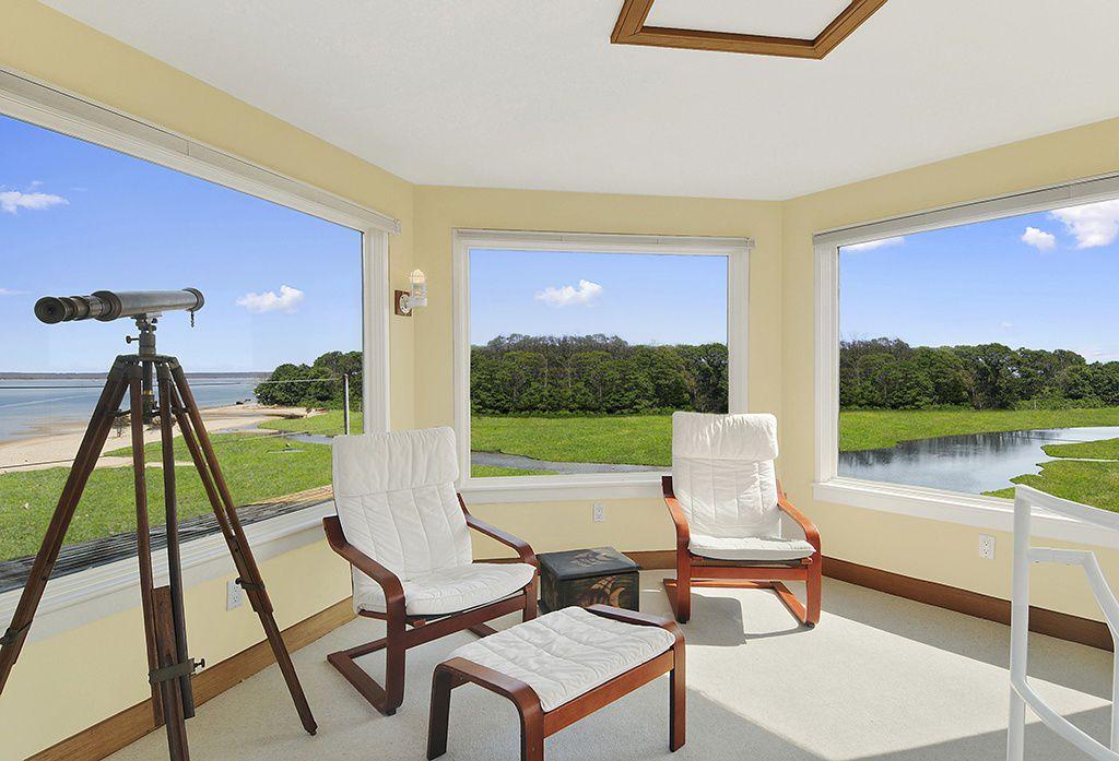 Modern Living Room With Carpet, Wall Sconce, Poang Chair, Birch Veneer,  Granan