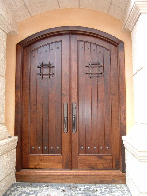 1 tag country front door with exterior stone floors the tuscan arch top knotty alder double door - Front Door Design Ideas