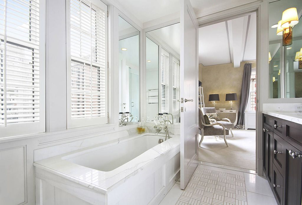 Traditional Wall Sconces For Bathroom : Traditional Master Bathroom with Flat panel cabinets by The Corcoran Group Zillow Digs Zillow