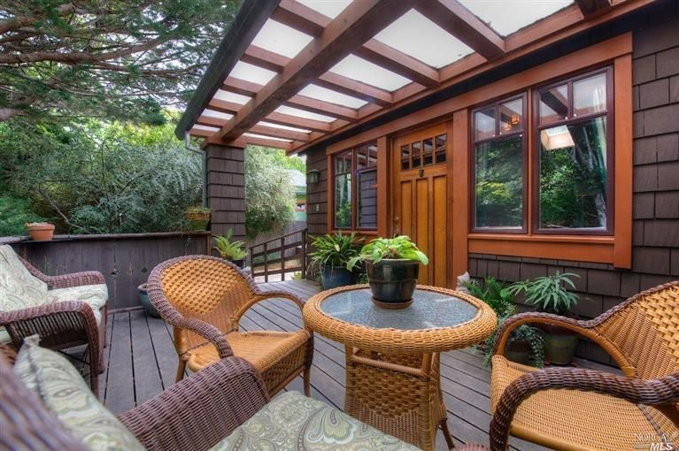 Craftsman Deck With Columns Amp Hardwood Floors In Inverness