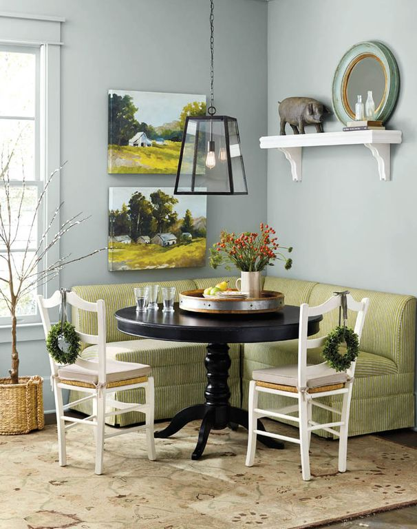Contemporary Dining Room With Concrete Floors LeMans Counter Stool Caf Shelf Pendant