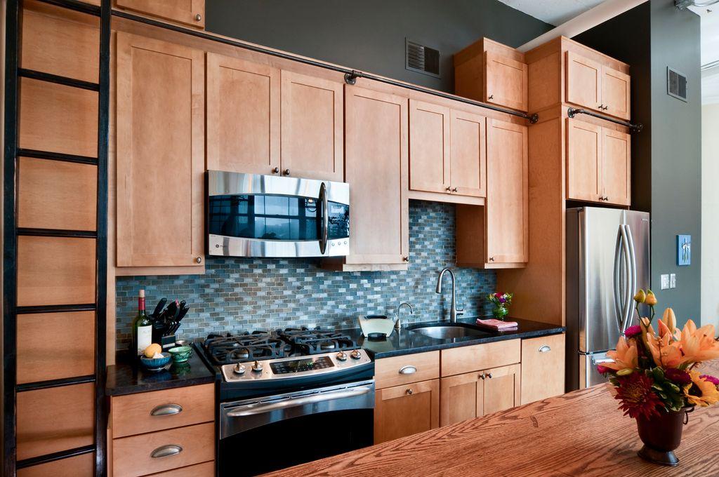 Modern Kitchen With One Wall, Century Hardware Builderu0027s Choice Cabinet  Pull, Undermount Sink