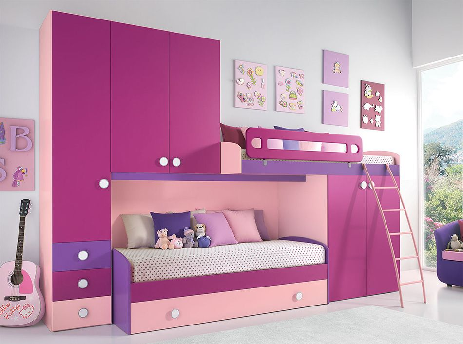 Modern kids bedroom with high ceiling by mig furniture for Cameretta 3x3