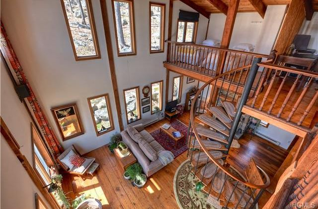 Contemporary Staircase with Balcony Columns in Stormville NY