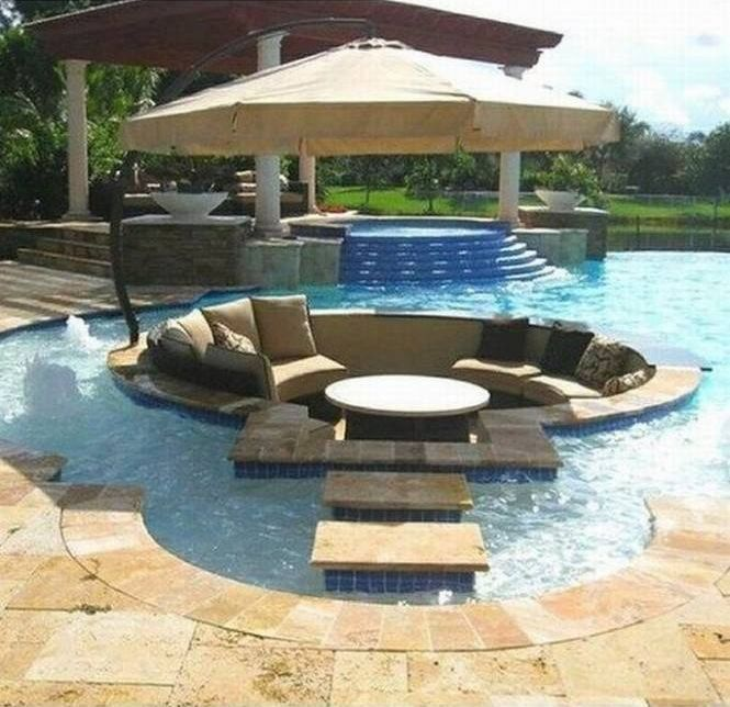 swimming pool with sunbrella contrast outdoor pillow treasure garden cantilever tilt offset umbrella
