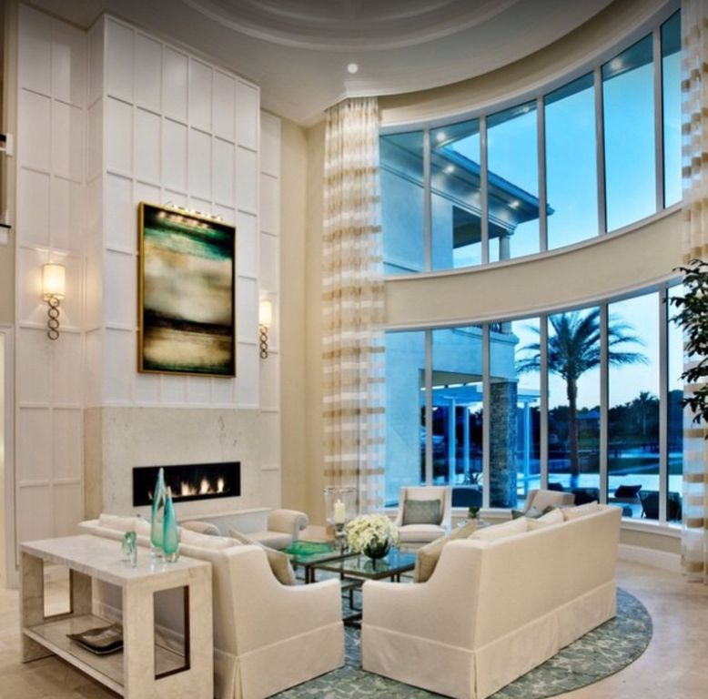 modern living room with high ceilingkelly kohler | zillow digs