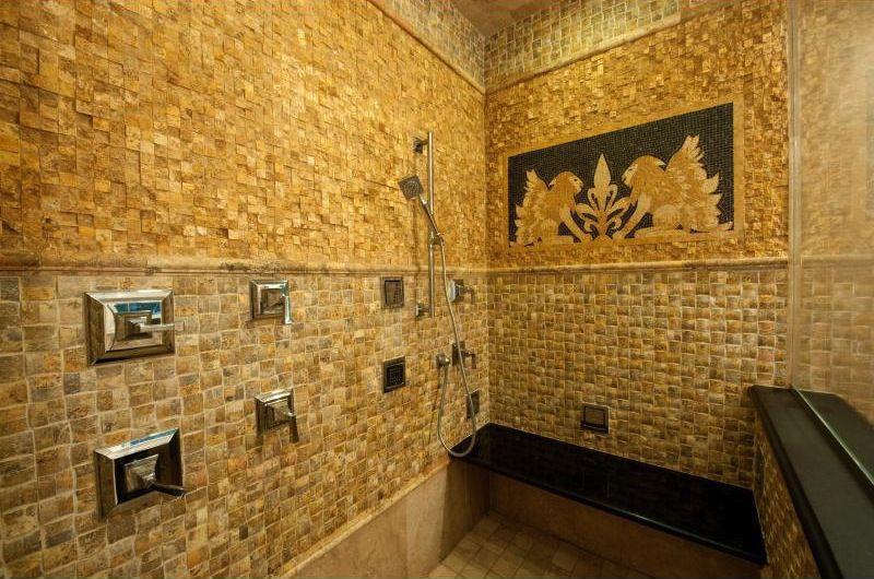 3 tags Mediterranean 3 4 Bathroom with Adjustable Shower Head  Glass shower  wall  Handheld ShowerOrange Bathroom Tiled Shower Design Ideas   Pictures   Zillow Digs  . Orange Bathroom Tile Ideas. Home Design Ideas