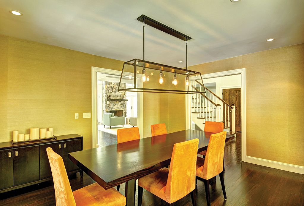 Contemporary Dining Room With Hardwood Floors Fulton